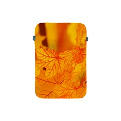 Bright Yellow Autumn Leaves Apple Ipad Mini Protective Soft Cases by Amaryn4rt