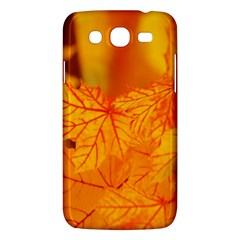 Bright Yellow Autumn Leaves Samsung Galaxy Mega 5 8 I9152 Hardshell Case  by Amaryn4rt