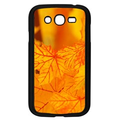 Bright Yellow Autumn Leaves Samsung Galaxy Grand Duos I9082 Case (black) by Amaryn4rt