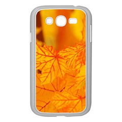 Bright Yellow Autumn Leaves Samsung Galaxy Grand Duos I9082 Case (white) by Amaryn4rt