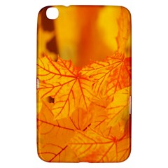 Bright Yellow Autumn Leaves Samsung Galaxy Tab 3 (8 ) T3100 Hardshell Case  by Amaryn4rt