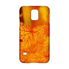 Bright Yellow Autumn Leaves Samsung Galaxy S5 Hardshell Case  by Amaryn4rt