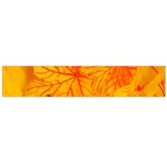 Bright Yellow Autumn Leaves Flano Scarf (large) by Amaryn4rt