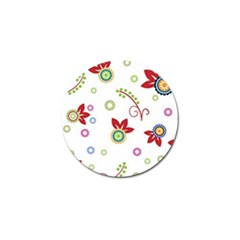 Colorful Floral Wallpaper Background Pattern Golf Ball Marker (4 Pack) by Amaryn4rt