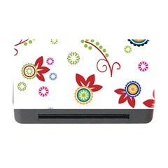 Colorful Floral Wallpaper Background Pattern Memory Card Reader With Cf by Amaryn4rt