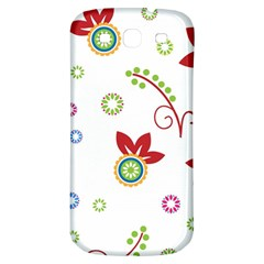 Colorful Floral Wallpaper Background Pattern Samsung Galaxy S3 S Iii Classic Hardshell Back Case by Amaryn4rt