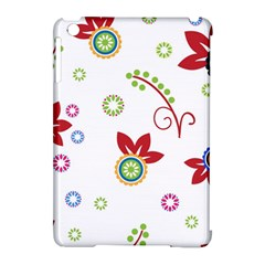 Colorful Floral Wallpaper Background Pattern Apple Ipad Mini Hardshell Case (compatible With Smart Cover) by Amaryn4rt