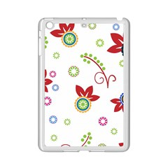 Colorful Floral Wallpaper Background Pattern Ipad Mini 2 Enamel Coated Cases by Amaryn4rt