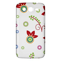 Colorful Floral Wallpaper Background Pattern Samsung Galaxy Mega 5 8 I9152 Hardshell Case  by Amaryn4rt