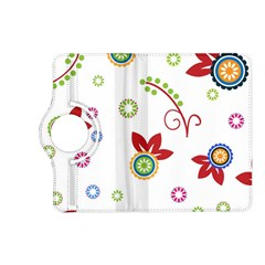 Colorful Floral Wallpaper Background Pattern Kindle Fire Hd (2013) Flip 360 Case by Amaryn4rt