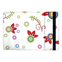 Colorful Floral Wallpaper Background Pattern Samsung Galaxy Tab Pro 10 1  Flip Case by Amaryn4rt