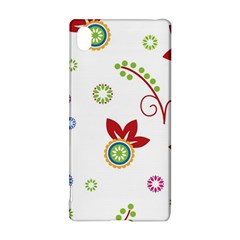Colorful Floral Wallpaper Background Pattern Sony Xperia Z3+ by Amaryn4rt