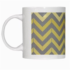 Abstract Vintage Lines White Mugs by Amaryn4rt