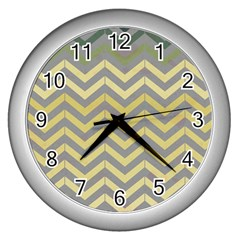Abstract Vintage Lines Wall Clocks (silver)  by Amaryn4rt