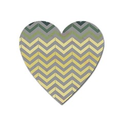 Abstract Vintage Lines Heart Magnet by Amaryn4rt