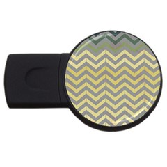 Abstract Vintage Lines Usb Flash Drive Round (4 Gb) by Amaryn4rt
