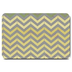 Abstract Vintage Lines Large Doormat  by Amaryn4rt