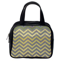 Abstract Vintage Lines Classic Handbags (one Side) by Amaryn4rt