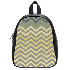 Abstract Vintage Lines School Bags (small)  by Amaryn4rt