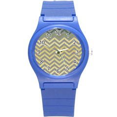 Abstract Vintage Lines Round Plastic Sport Watch (s) by Amaryn4rt