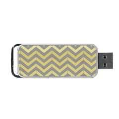 Abstract Vintage Lines Portable Usb Flash (two Sides) by Amaryn4rt