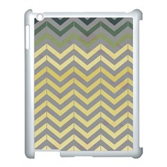 Abstract Vintage Lines Apple Ipad 3/4 Case (white) by Amaryn4rt