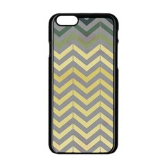 Abstract Vintage Lines Apple Iphone 6/6s Black Enamel Case by Amaryn4rt