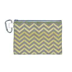Abstract Vintage Lines Canvas Cosmetic Bag (m) by Amaryn4rt