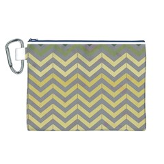 Abstract Vintage Lines Canvas Cosmetic Bag (l) by Amaryn4rt
