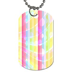 Colorful Abstract Stripes Circles And Waves Wallpaper Background Dog Tag (two Sides) by Amaryn4rt