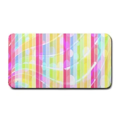 Colorful Abstract Stripes Circles And Waves Wallpaper Background Medium Bar Mats by Amaryn4rt