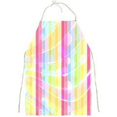 Colorful Abstract Stripes Circles And Waves Wallpaper Background Full Print Aprons by Amaryn4rt
