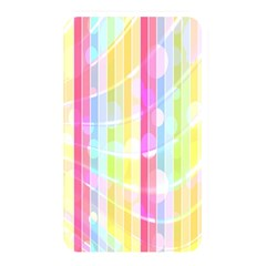 Colorful Abstract Stripes Circles And Waves Wallpaper Background Memory Card Reader by Amaryn4rt