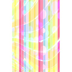 Colorful Abstract Stripes Circles And Waves Wallpaper Background 5 5  X 8 5  Notebooks by Amaryn4rt