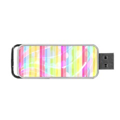 Colorful Abstract Stripes Circles And Waves Wallpaper Background Portable Usb Flash (two Sides) by Amaryn4rt