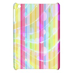 Colorful Abstract Stripes Circles And Waves Wallpaper Background Apple Ipad Mini Hardshell Case by Amaryn4rt