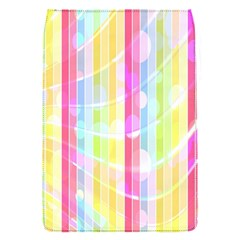 Colorful Abstract Stripes Circles And Waves Wallpaper Background Flap Covers (s)  by Amaryn4rt