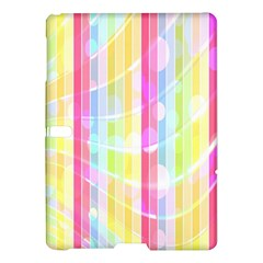 Colorful Abstract Stripes Circles And Waves Wallpaper Background Samsung Galaxy Tab S (10 5 ) Hardshell Case  by Amaryn4rt
