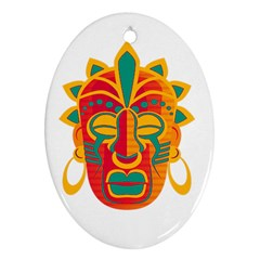 Mask Ornament (oval) by Valentinaart