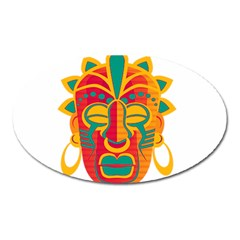 Mask Oval Magnet by Valentinaart