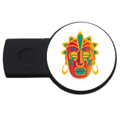 Mask Usb Flash Drive Round (4 Gb) by Valentinaart