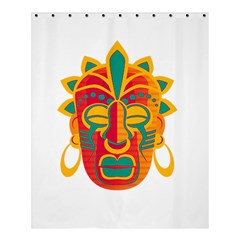Mask Shower Curtain 60  X 72  (medium)  by Valentinaart