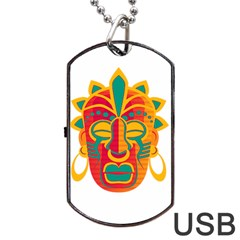 Mask Dog Tag Usb Flash (one Side) by Valentinaart