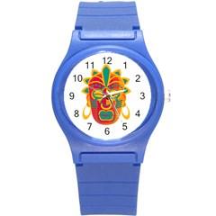 Mask Round Plastic Sport Watch (s) by Valentinaart