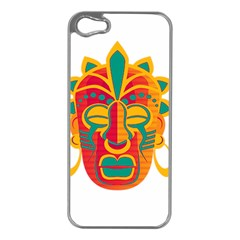 Mask Apple Iphone 5 Case (silver) by Valentinaart
