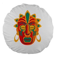 Mask Large 18  Premium Flano Round Cushions by Valentinaart