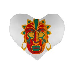 Mask Standard 16  Premium Flano Heart Shape Cushions by Valentinaart