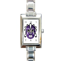 Mask Rectangle Italian Charm Watch by Valentinaart