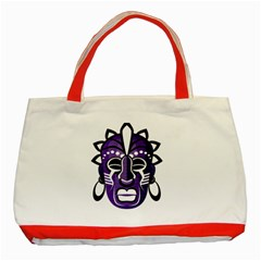 Mask Classic Tote Bag (red) by Valentinaart