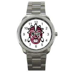 Mask Sport Metal Watch by Valentinaart